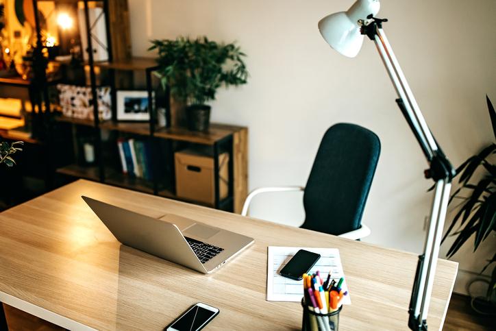 office desk & laptop